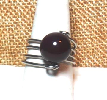 Agate & Stainless Ring