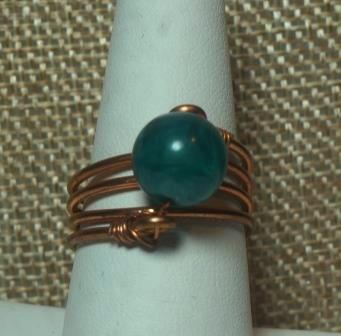 Blue Stone & Copper Colored Ring