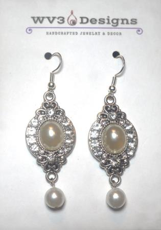 Pearl Earrings - Chandelier Style