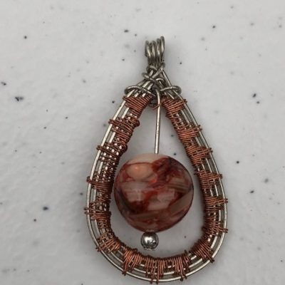 River Shell Stainless & Copper Pendant