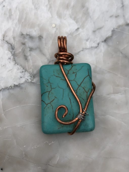 Simulated Turquoise Pendant