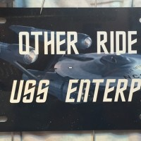 My Other Ride is the USS Enterprise Car Tag