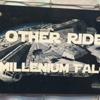 My Other Ride is a Millenium Falcon Car Tag